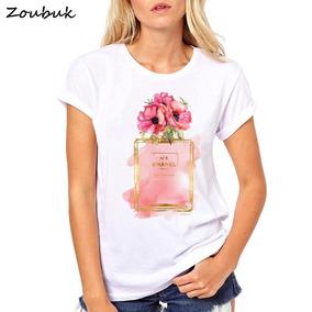 Shirt Mujeres Mujer T Harajuku 2018 Perfume Flor Mo Camiseta YfgbvI76y
