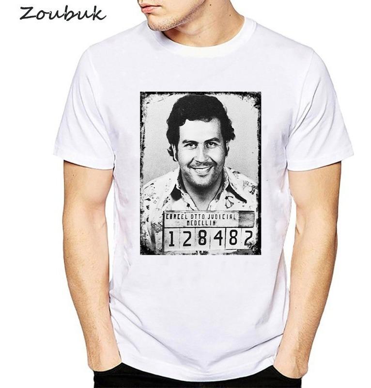 Hombre Hombres Narcos Pablo 2018 Escobar Camiseta Algodón Ve If6gyYbvm7