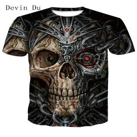 Impres Camiseta Moda 2018 3d Verano Hombre Nuevo Tops Cráneo BoeCrdWx