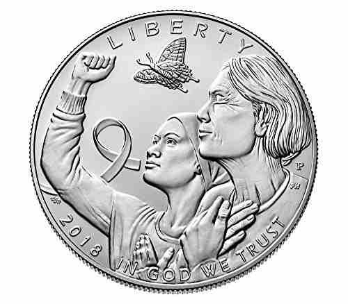 2018 p breast cancer awareness silver dollar $1 uncirculated