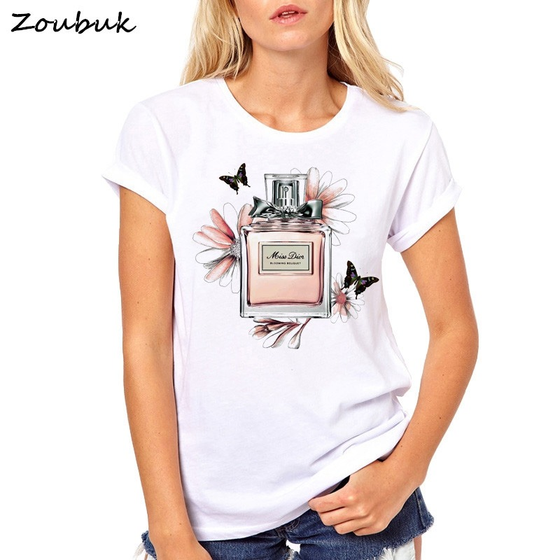 2018 Mujer Verano Camiseta D Casual Señora Tees Top YvIf76ybg