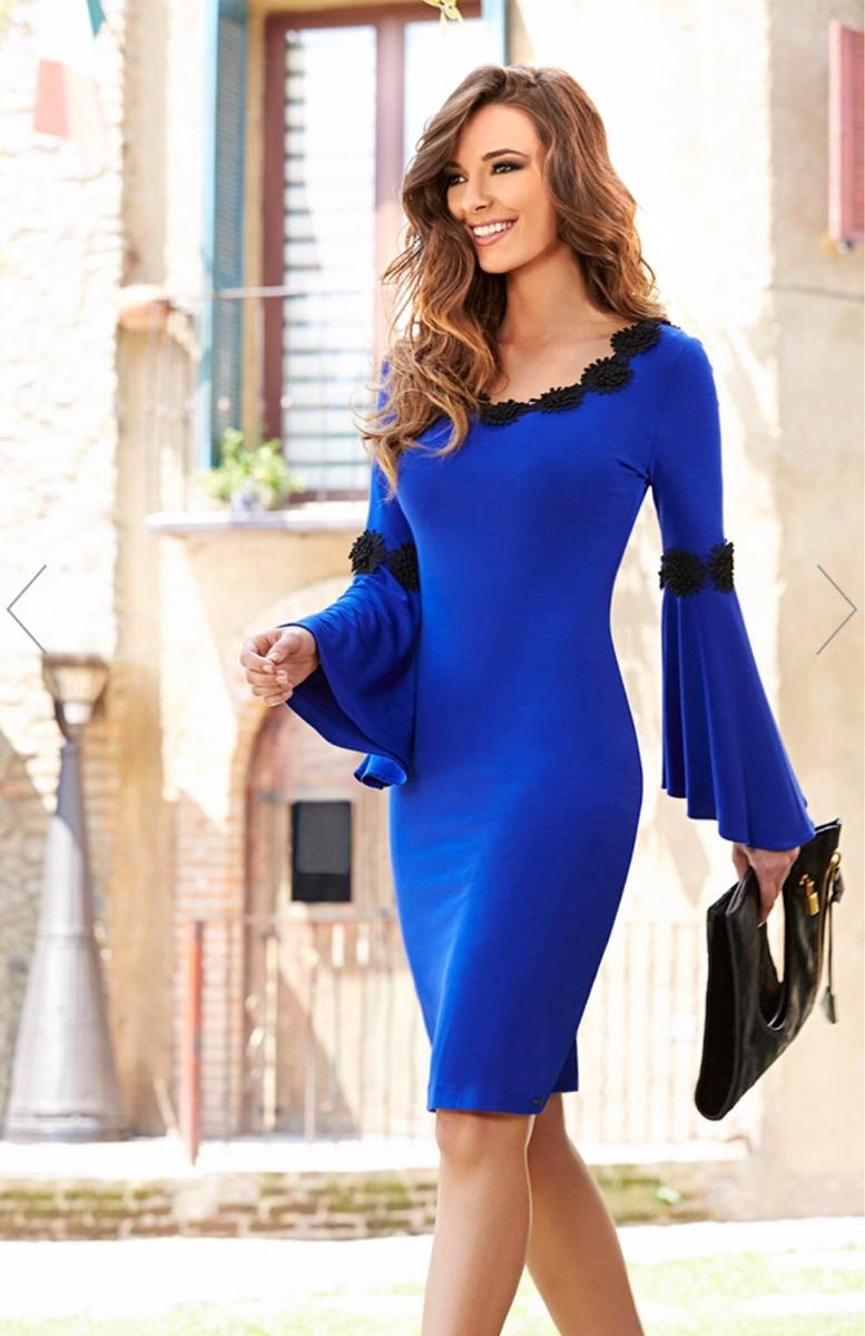 2018 Vestido Azul Marca Mussi Al 40 De Desc