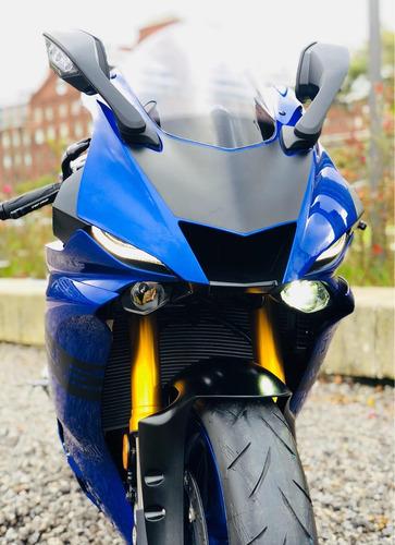 2018 yamaha yzfr6 r6 azul con akrapovic