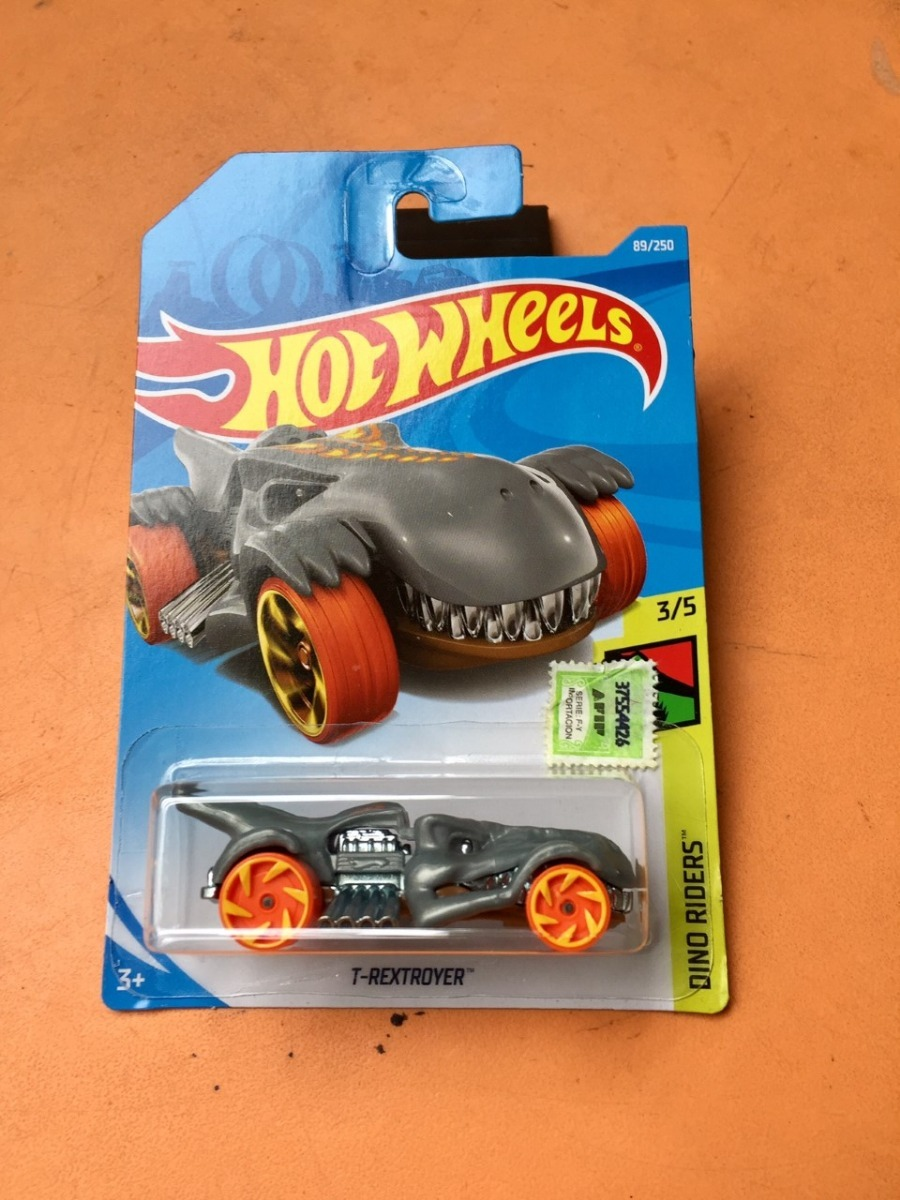 Hot Wheels Dino Riders T rextroyer-Gris 2019