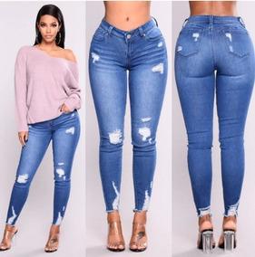 a096fa8e62 Pantalon De Jeans Con Elastico En La Cintura De Mujer - Ropa y ...