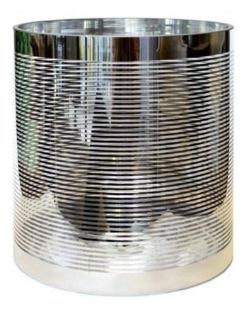 2022-21  florero de cristal con detalles en plata