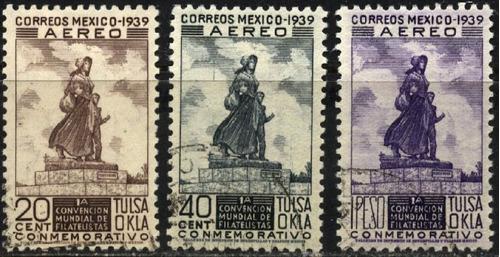2024 méxico tulsa okla scott #c94-96 serie 3 p mint n h 1939