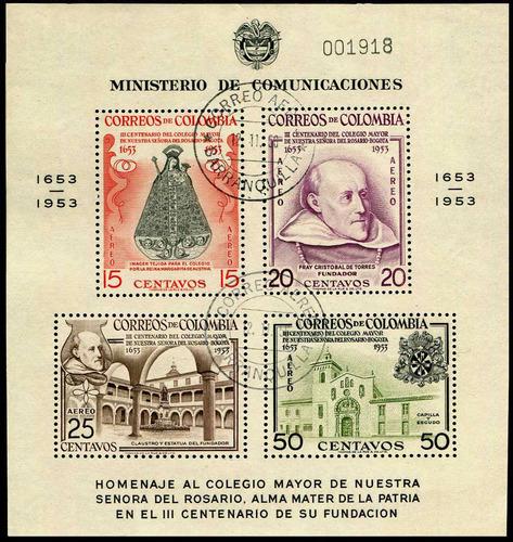 2026 colombia h rec colegio m s #632a 1.10 c t o  n h 1954