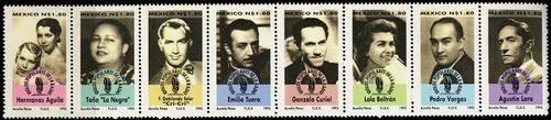 2029 méxico artistas radio scott#1950a 8 s $1.80 usados 1995