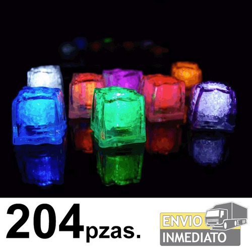 204pzas. led rgb colores tipo hielo sumergible