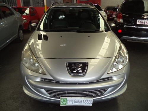 207 sw 1.4 xr flex 2013 prata  completo couro confira !!