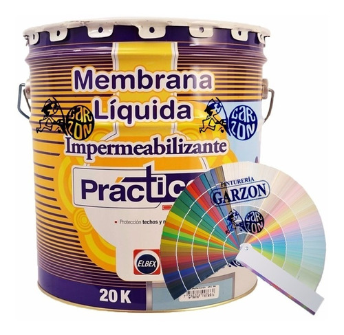 20k membrana impermeabilizante elbex color pastel elección!