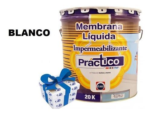 20k membrana liq impermeabilizante elbex 4 colores + regalo!