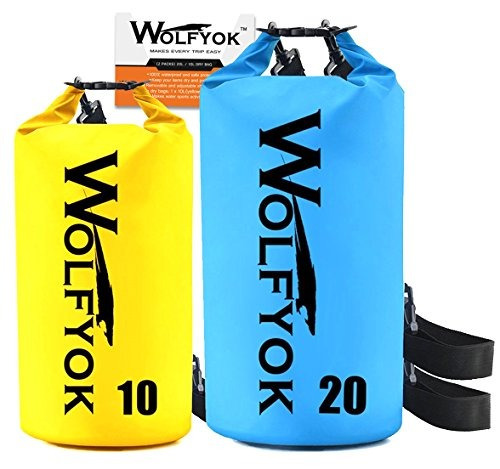 20l / 10l dry bag - wolfyok roll top impermeable flotante du