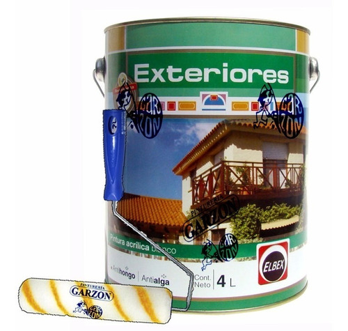 20l pintura elbex exterior antihongos superlavable + regalo!