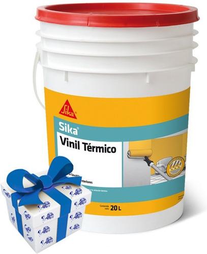 20l pintura sika sikavinil termico interior lavable +regalo!