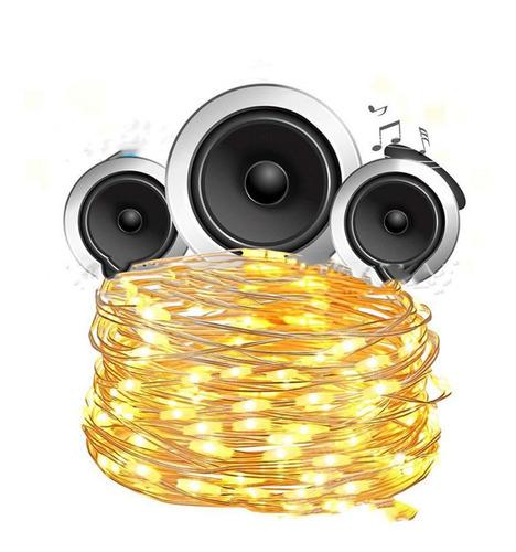 20m 200led control de sonido decoración navideña luz
