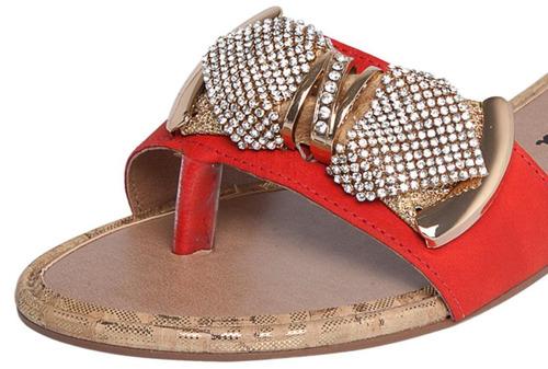 20%off sandália rasteirinha dakota strass z0231