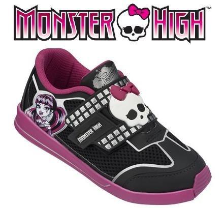 20%off tênis monster high star preto com rosa - 21274