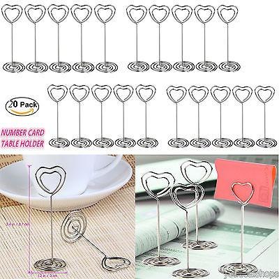 20pcs pixnor lugar tarjeta soporte en forma de corazón boda