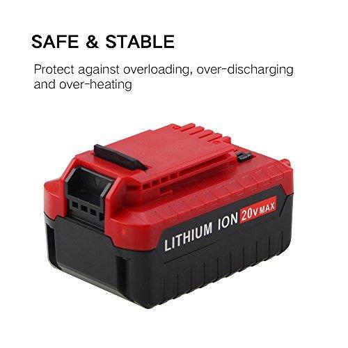 20v max 4.0 ah de la batería para porter cable de iones de l