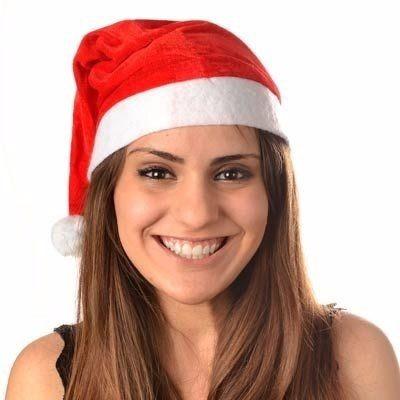 20x Gorro Touca Papai Noel - Natal - Frete Barato !! - R  28 9201cb5b302