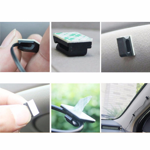 20x sujetador adhesivo cables carro laptop galaxy iphone lte