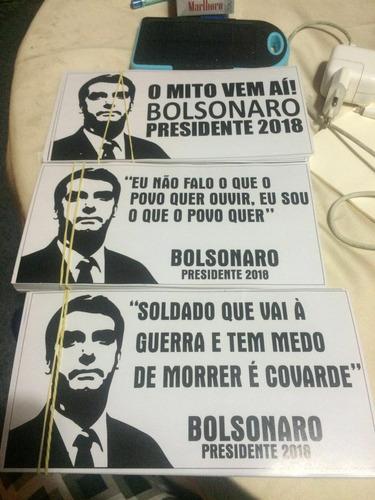 21 adesivos do mito bolsonaro 10x20cm