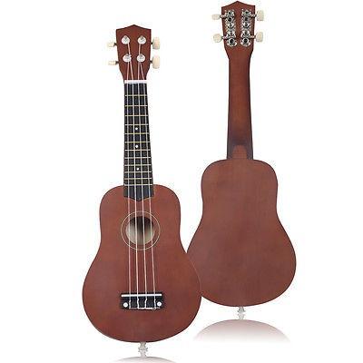 21 aparato de equipo instrumento de ukulele acústico café