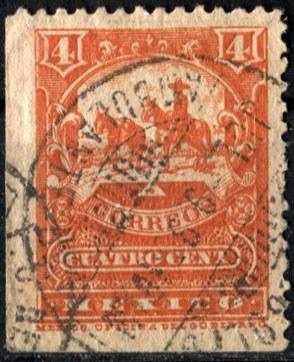 2106 mulita 1° e scott #246a naranja rojizo 4c usad 1895