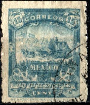2109 mulita 2° e scott #263 ve esmeralda 15c usado 1896-97