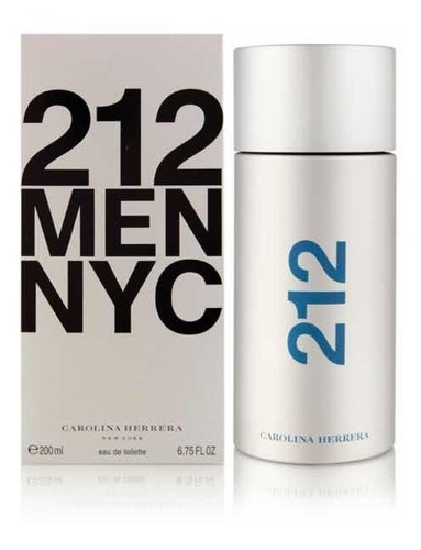212 men carolina herrera 200ml - original sellado