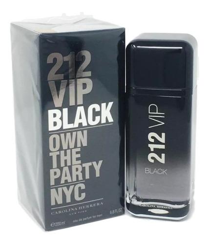 212 vip black 200ml edp ch perfume masculino importado