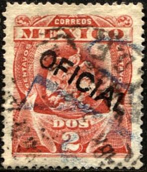 2128 oficial aguilita scott# o50 rojo 2c usado 1900