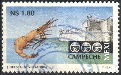 2147 turistico campeche 5° e scott#1787 n$1.80 usado 1995