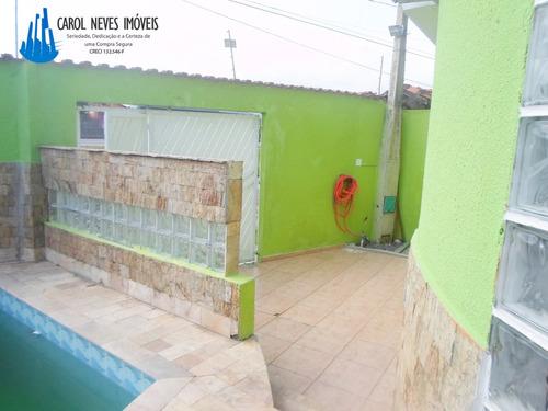 2176 - casa alto padrão l/ praia 3 dorms + piscina!