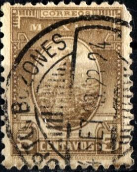 2177 mot mexicanos papel ingles 1° e 5c usado 1934-40