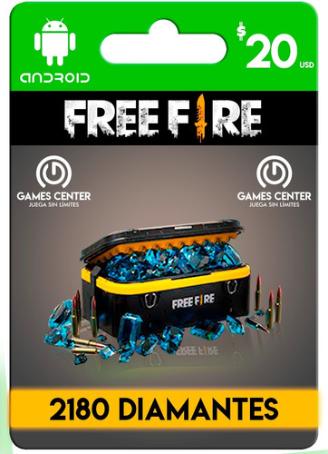 2180 diamantes free fire+regalo( leer descripción ) envio ya