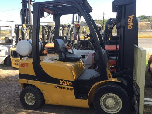 22) montacargas yale 4800 lbs. 2014 gas lp
