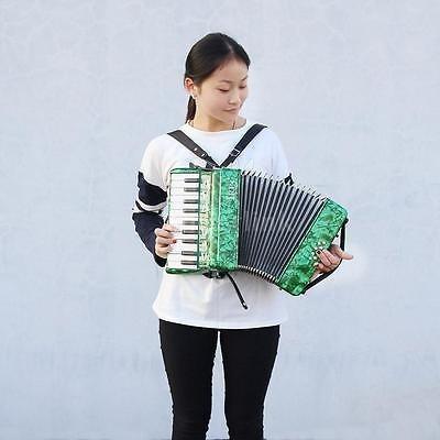 22 teclas 8 bajo acordeón piano con correas guantes paño...