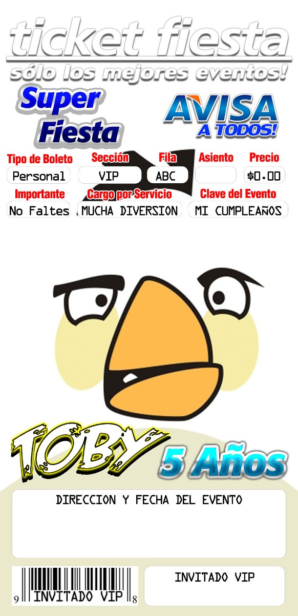 220 Plantillas Invitacion Ticketmaster Photoshop Editables - $ 5.000 ...