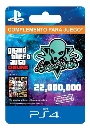 $22.000.000 dinero + rp gta v online - ps4 - legal