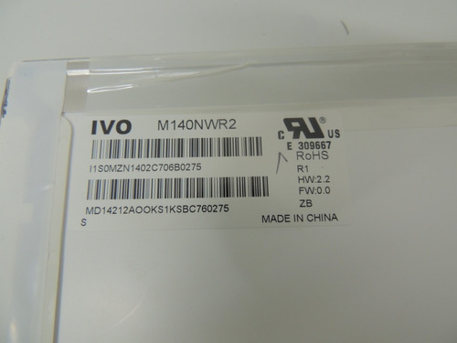 221 - tela 14.0 led mt140nwr2 para notebook