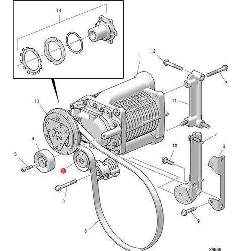 22171036 polia esticadora correia motor volvo penta d4 ou d6