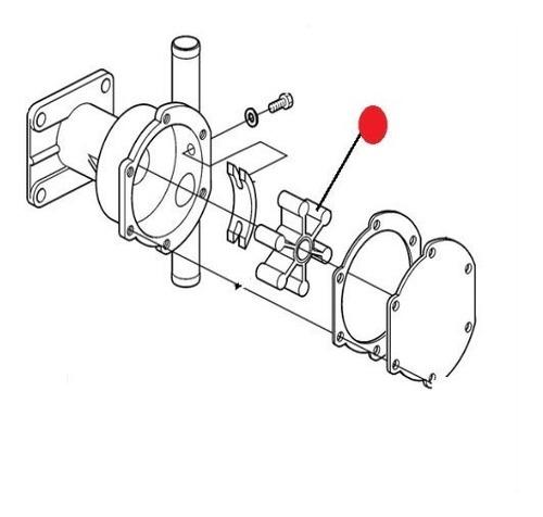 22222936 rotor da bomba sucção água volvo penta d1