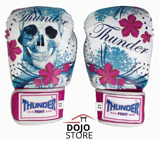 d2e5b251b 223 Luva Boxe Muay Thai Thunder Feminina Rosa 12oz - R  119
