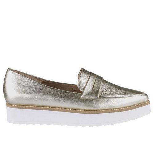 2241_piso palpala 04 | zapatos de piso de charol plateados