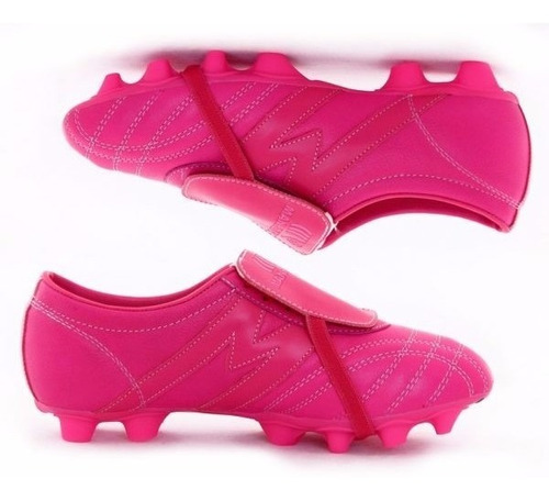 2253-zapato futbol profesional manriquez mid sx total fucsia