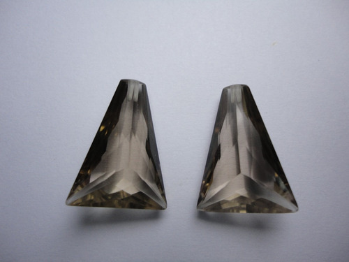 22,70 cts conjunto quartzo fumê lapidação especial
