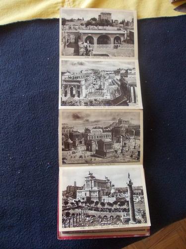 2273 album nª2 - con  32 antiguas postales roma